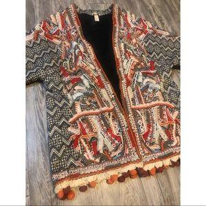 Boho Embroidered beaded Jacket